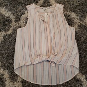 Lucky brand striped top high low